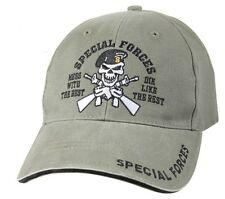 US Army SPECIAL FORCES Ball Cap Olive Skull Beret Ranger Airborne OD Green Hat R
