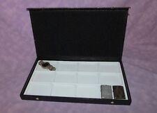Multi Purpose Jewelry Display Case 12 Slot Textured Top White