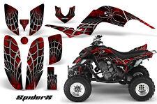 YAMAHA RAPTOR 660 GRAPHICS KIT CREATORX DECALS STICKERS SPIDERX RED