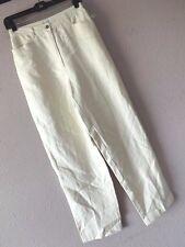 NWT JONES NY Sport LINEN PANTS 4 Off White Ivory Jeans Flat Career Dress XS NEW