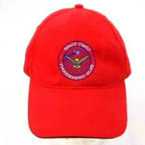 Vintage Space Coast Thunderbird Club International Adjustable Strapback Hat Cap