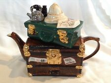 RARE TEAPOTTERY SWINESIDE COLLECTABLE NOVELTY LARGE DARKEST AFRICA TRUNK TEAPOT