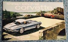 1963 Corvette C2 Original Owners Manual w Full Card 2nd Edition Genuine OEM 327