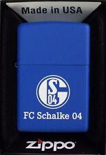 Zippo Feuerzeug F. C. Schalke 04 blau matt Nr. 271330, Schalke 04 Fussball-Zippo