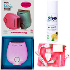 Deluxe Wet-Dry USB Rechargeable Lady Shaver with Lafes Active Roll On Deodorant