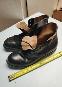 Rare vintage pure leather steel toe boots size 8.5 BILTRITE preowned