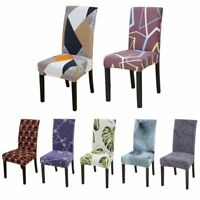 Geometric Printed Elastic Chair Covers Dinning Room Wedding Seat Chair Slipcover