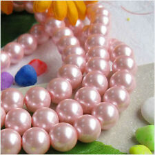 """8mm Pink South Ocean Shell Pearls Gemstones Round Loose Beads 15"""" AAA"""