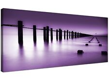 Purple Cheap Canvas Print of Jetty for Bedroom  - 120cm x 50cm - 1086