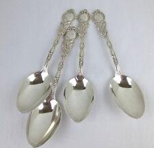"Gorham sterling silver (4) Marie Antoinette 7 1/8"" oval soup spoons monogram B"