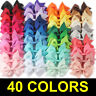 US 40pcs Kids Baby Children Toddler Flowers Hair Clip Bow Accessories Hairpin DS