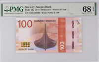 Norway 100 Kroner 2016 P 54 a Superb GEM UNC PMG 68 EPQ