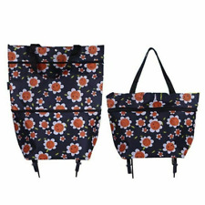 Trolley Shopping Bags Large Capacity Convenient Grocery Storage Bag Floral Style