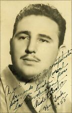 Preprinted Photo of Fidel Castro Hand Signed Autograph Photograph New York 1955