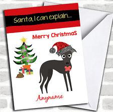 Funny Dog Poo Christmas Customised Card
