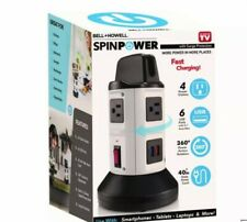 Spin Power by Bell+Howell Surge Protector+Electric Charging Station.