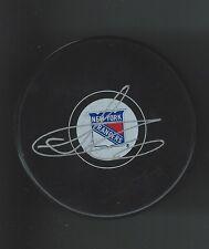 Steve Richmond Signed New York Rangers Puck