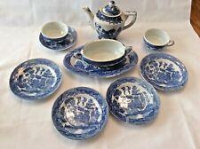 Blue Willow child tea set