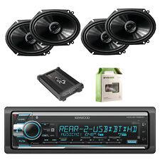 Kenwood 1Din Receiver W/Bluetooth with Pioneer Speakers, Amplifier & Enrock Wire