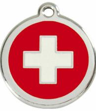 Red Dingo Enamel Dog & Cat ID Tags Switzerland Flag