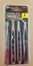 Max Force Stainless Tweezer Set - 4 Piece - 2220715 - Tweezers