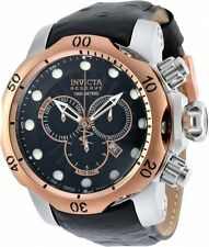 @NEW Invicta Reserve 52mm Venom Swiss Made Chronograph Leather Strap Watch 90132
