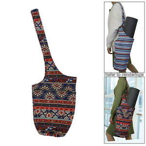 Canvas Yoga Mat Carrier Travel Pad Bag Lightweight Portable for Gym Outdoor