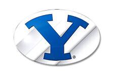 BYU Cougars Brigham Young CE3 Metal Die Cut Color Chrome Auto Emblem University