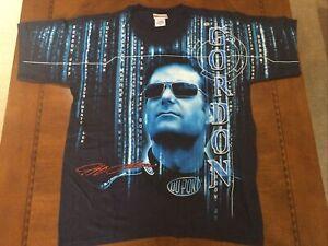 Rare Vintage NASCAR Shirt Jeff GORDON DUPONT All Over Total Print New W/tag Med