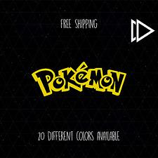 Pokemon Font Logo Vinyl Car Laptop Decal Sticker - Sun Moon Go Game Emerald 3DS