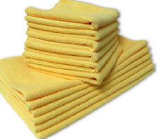 12 NEW MICROFIBER TOWELS NEW CLEANING  POLISHING CLOTHS BULK 16X16 GOLD 330 GSM