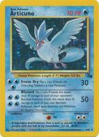 Articuno Holo Pokemon Card Fossil Series 2/62