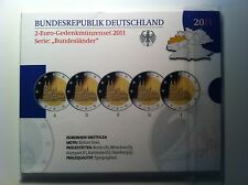 BLISTER BE 5 X 2 EURO ALLEMAGNE 2011 A D F G J NEUF PP PROOF
