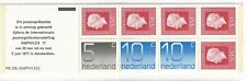 NETHERLANDS  1976 NUMERAL AND JULIANA BOOKLET SG SB83 AMPHILEX 77 ORANGE COVER.