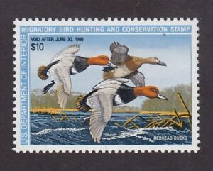 United States Federal Duck Stamp # RW 54, MNHOG, XF 1985
