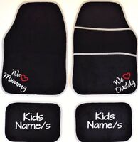PERSONALISED Car mats I ~ WE LOVE Mummy & Daddy Christmas gifts from Children
