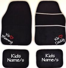 PERSONALISED Car mats I ~ WE LOVE Mummy & Daddy gifts from the kids UNIVERSAL