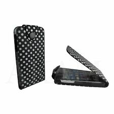 PU LEATHER FLIP POLKA DOTS STYLISH CASE COVER FOR APPLE IPHONE 5 5G 5S