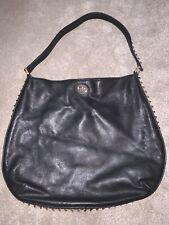 bcf6990ab141 Tory Burch Black Pyramid Stud Dome Hobo Bag Women s Handbag