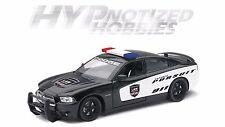 NEWRAY 1:24 DODGE CHARGER PURSUIT POLICE DIE-CAST BLACK/WHITE 71903