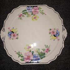 "The Harker Pottery Co. Ceramic Floral Plate - 12"" x 11"""