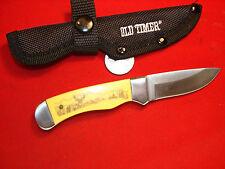 SCHRADE OLD TIMER SCRIMSHAW BUCK DEER HUNTING KNIFE LIL FINGER  W4  0107