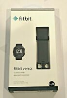 Official Fitbit Versa Classic Band Black Large Brand New AUTHENTIC