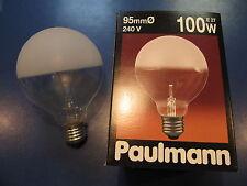 rarité - Paulmann Lampe de globe E27 100W G95 MONTICULE satiné mat Ampoule