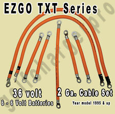 EZGO Golf Cart Battery Cables Set 2 Gauge for TXT