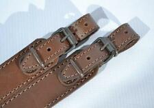 Genuine Leather Shotgun Rifle Strap Sling Gun Style Brown Hunting Shoulder New