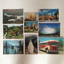 Lot 7 Canadian Post Cards Circa 1980s Niagra Rockies Butchart Our Lady Boniface