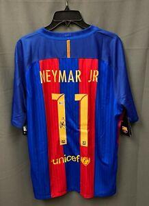 NEYMAR #11 Signed Barcelona Soccer NIKE Jersey Autographed Sz XL Beckett BAS LOA