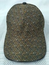 Burberry TB Brown Baseball Hat Velco Buckle Casual Style Unisex
