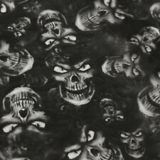 Black Skulls Hydrographic PVA Water Transfer Hydro Dipping DIP Print Film Sheet